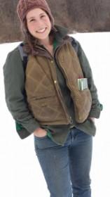 Eliza in winter attire