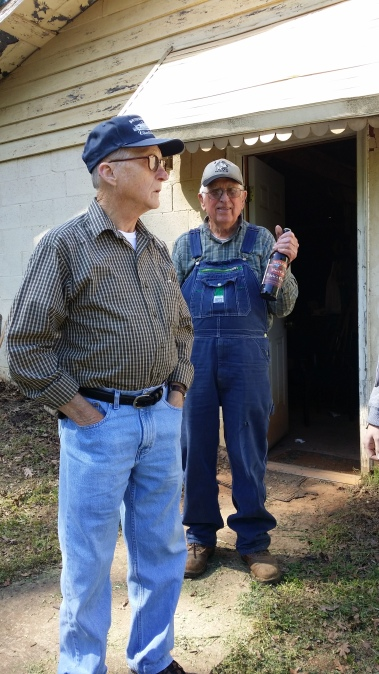 Jim Lawson, in the overalls, holding Adele's Choice Hard Cider from Mercier's Orchard in GA
